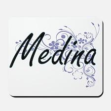 Medina surname artistic design with Flow Mousepad