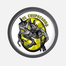 Chupacabra with Background 3 Wall Clock