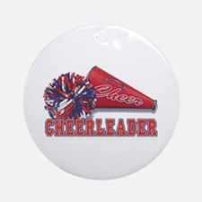 Cheerleader Cone Ornament (Round)