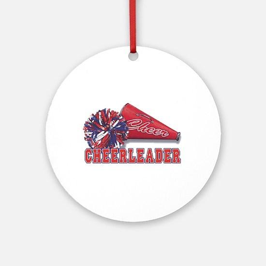 Cheerleader Cone Ornament (Round)