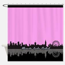 Worcester London England Pink Shower Curtain