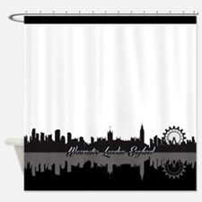 Worcester London England White Shower Curtain