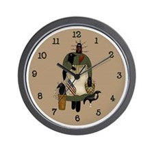 Primitive Art Sadie Wall Clock