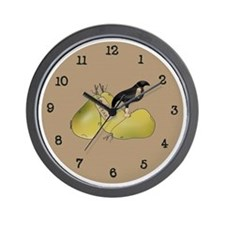 Crow and Pears Wall Clock