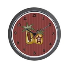 Primitive Pineapples Wall Clock
