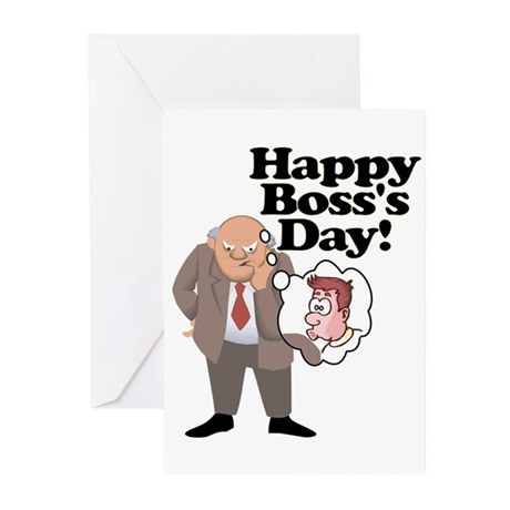 Office Ass Kisser Boss Day Greeting Cards (Pk of 1