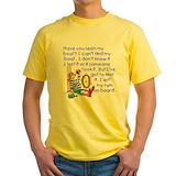 Cruise ship Mens Yellow T-shirts
