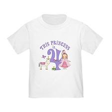 Unicorn Princess 4th Birthday T