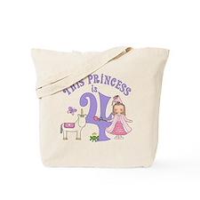 Unicorn Princess 4th Birthday Tote Bag