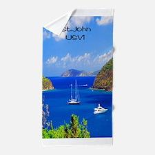 Sail Boats St. John Beach Towel