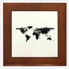 World map Framed Tile