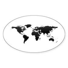 World map Bumper Stickers
