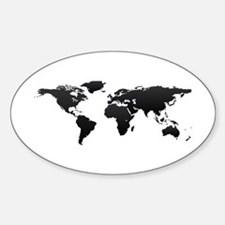 World map Bumper Stickers