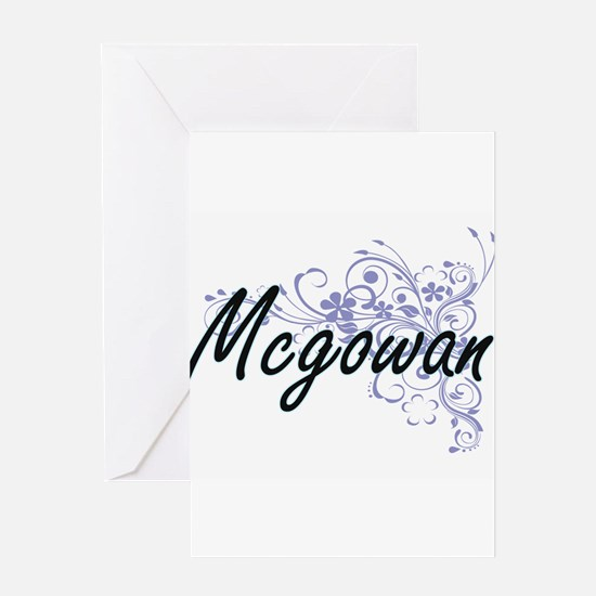 Mcgowan surname artistic design wit Greeting Cards