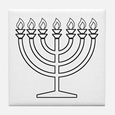 Menorah Tile Coaster
