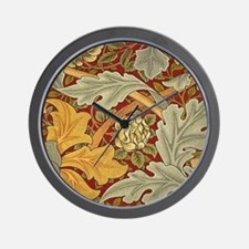 Saint James wallpaper by William Morris Wall Clock
