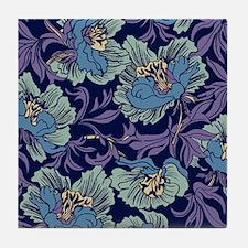 William Morris Textile Tile Coaster