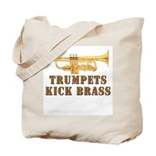 Trumpets Kick Brass Tote Bag