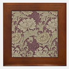 Chrysanthemum William Morris Framed Tile