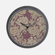 Chrysanthemum William Morris Wall Clock