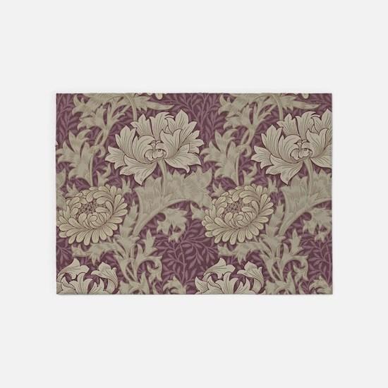 Chrysanthemum William Morris 5'x7'Area Rug