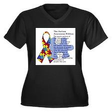 Funny Handicapped Women's Plus Size V-Neck Dark T-Shirt
