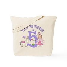 Unicorn Princess 5th Birthday Tote Bag