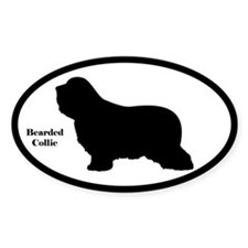 Bearded Collie Silhouette Decal