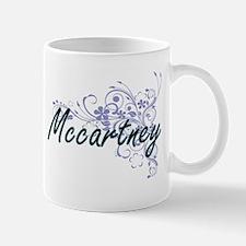 Mccartney surname artistic design with Flower Mugs