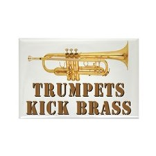 Trumpets Kick Brass Rectangle Magnet