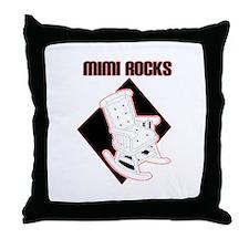 Mimi Rocks Throw Pillow