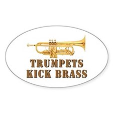 Trumpets Kick Brass Oval Decal