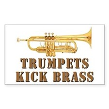 Trumpets Kick Brass Rectangle Decal