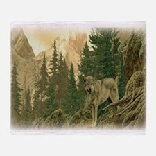 Wolf Mountain Throw Blanket