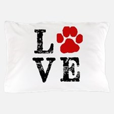 Love with a paw Pillow Case
