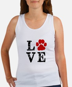 Love with a paw Tank Top