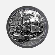 Black and White Vintage Steam Train Engine Wall Cl