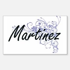 Martinez surname artistic design with Flow Decal