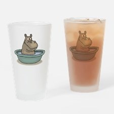 Hippo Bathing in tub Drinking Glass