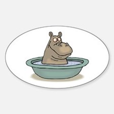 Hippo Bathing in tub Decal