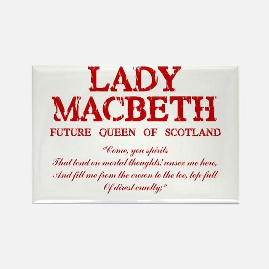 Cute Shakespeare macbeth Rectangle Magnet