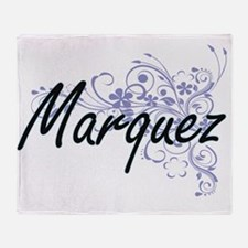 Marquez surname artistic design with Throw Blanket