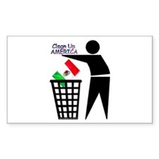 Clean Up America Rectangle Decal