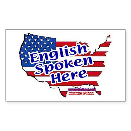 English Spoken Here Rectangle Sticker