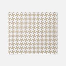 Brown, Beige: Houndstooth Pattern Throw Blanket