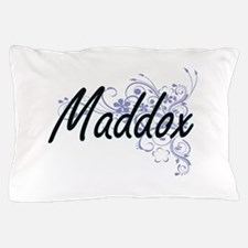 Maddox surname artistic design with Fl Pillow Case