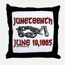 """June19, 1865"" Throw Pillow"
