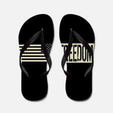 Freedom: Black, Backwards Military Depl Flip Flops