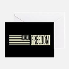 Freedom: Black, Backwards Military D Greeting Card