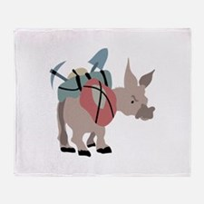 Pack Mule Throw Blanket